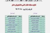 نتایج مسابقه طناب کشی دانشجویان دختر